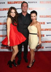 Scout Taylor-Compton, producer Malek Akkad and Danielle Harris at the premiere of