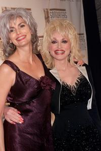Emmylou Harris and Dolly Parton at the Songwriters Hall of Fame 32nd Annual Awards.