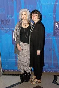 Emmylou Harris and Hallie Slocum at the Art of Compassion Gala.