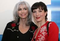 Emmylou Harris and Bebe Neuwirth at the Olympus Fashion Week Fall 2006.
