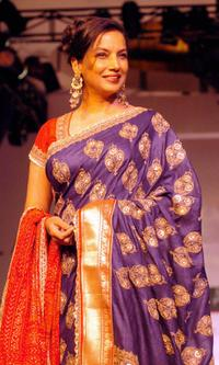 Shabana Azmi at the Lakme Indian Fashion Week (LIFW).