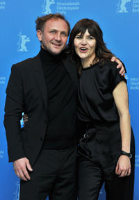 Andrzej Chyra and director Malgoska Szumowska at the photocall of