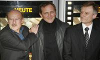 Volker Schloendorff, Andrzej Chyra and Marek Prawda at the German premiere of