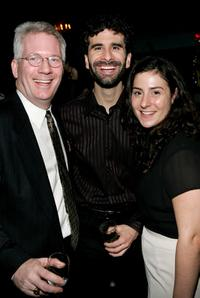 Producer Jack Thomas, John Cariani and Erica Schwartz at the after party of the opening night of