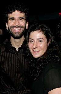 John Cariani and Erica Schwartz at the after party of the opening night of