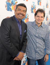 George Lopez and Carlos Saldanha at the California premiere of