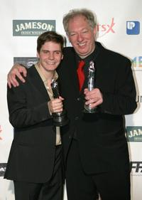 Daniel Bruhl and Wolfgang Becker at the European Film Awards 2003.