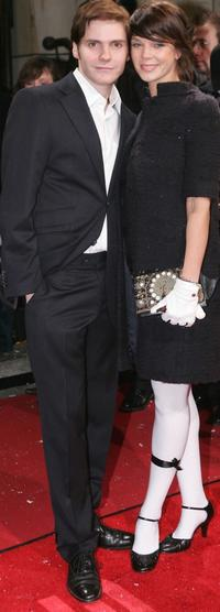 Daniel Bruhl and his girlfriend Jessica Schwarz at the German premiere of