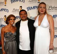 Eva Longoria, Carlos Mencia and Amy Mencia at the El Sueno De Esperanza Gala.