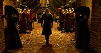 Ruthless leader Prince Nuada (Luke Goss) approaches his father in