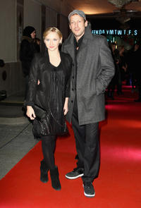 Anna Maria Muehe and Wotan Wilke Mohring at the 99 Fire Films Award 2011 during the 61st Berlin International Film Festival.