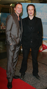Wotan Wilke Mohring and August Diehl at the Germany premiere of