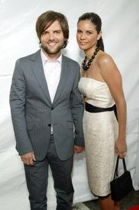 Adam Scott and Naomi Sablan at the premiere of