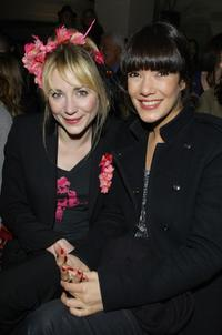 Julie Depardieu and Melanie Doutey at the Etam fashion show.