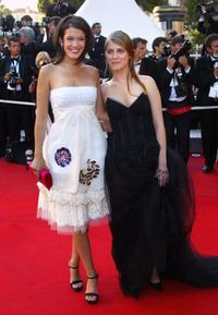Melanie Doutey and Melanie Laurent at the 56th Cannes Film Festival.