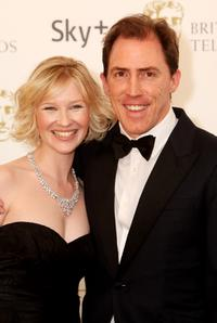 Joanna Page and Rob Brydon at the British Academy Television Awards 2008.