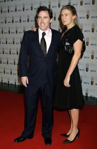 Rob Brydon and Guest at the Inaugural Bafta Nominees Reception.