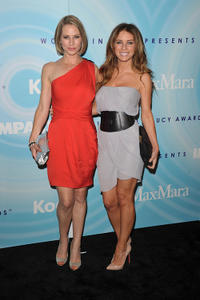 Meredith Monroe and stylist Joey Tierney at the 2011 Women In Film Crystal + Lucy Awards in California.