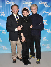 William Ivey Long, Linda Hart and Paul Huntley at the Broadway Cast photocall of