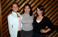 Marya Grandy, Linda Hart and Leslie Kritzer at the recording session for the musical's CD.