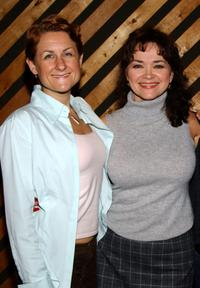 Marya Grandy and Linda Hart at the recording session for the musical's CD.