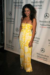 Jennifer Freeman at the Spring 2009 Mercedes-Benz Fashion Week.