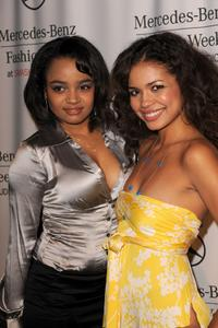 Kyla Pratt and Jennifer Freeman at the Spring 2009 Mercedes-Benz Fashion Week.