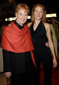 Mariette Hartley and Guest at the opening night of the play