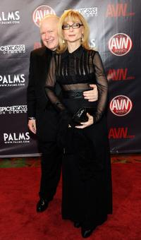 Ernest Greene and Nina Hartley at the 27th Annual Adult Video News Awards Show.