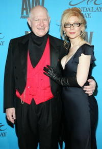 Ernest Greene and Nina Hartley at the 24th Annual Adult Video News Awards.