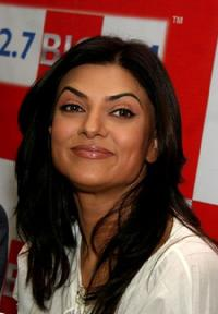 Sushmita Sen at the radio station in Mumbai.