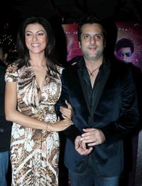 Sushmita Sen and Fardeen Khan at the music launch of