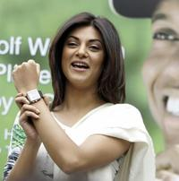 Sushmita Sen at the launch of new Tag Heuer Golf watch.