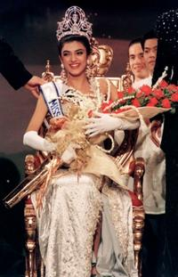 Sushmita Sen at the 1994 Miss Universe Contest.