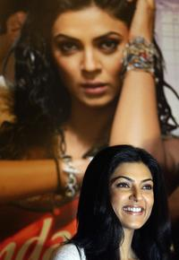 Sushmita Sen at the press conference to launch