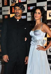 Arjun Rampal and Katrina Kaif at the premiere of