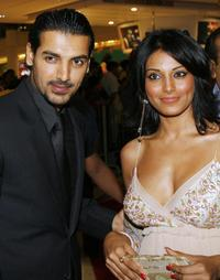 John Abraham and Bipasha Basu at the screening of