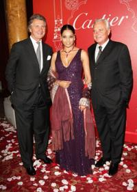 Arnaud Bamberger, Bipasha Basu and Bernard Fornas at the Cartier International Jewellery Launch Night.
