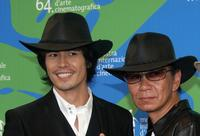 Hideaki Ito and Miike Takashi at the photocall of