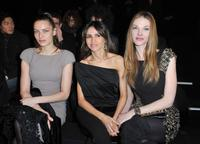 Rie Rasmussen, Goya Toledo and Paulina Nemcova at the Elie Saab Ready to Wear show.