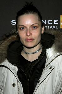 Rie Rasmussen at the premiere of