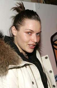 Rie Rasmussen at the Airborne Lounge during the 2007 Sundance Film Festival.