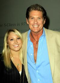 David Hasselhoff and Hayley Amber Hasselhoff at the Mercedes Benz Fashion Week.