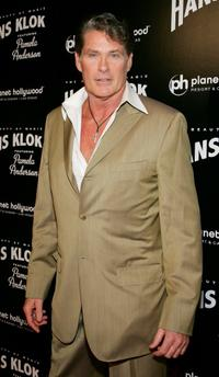 David Hasselhoff at the opening night performance of magician Hans Klok's show