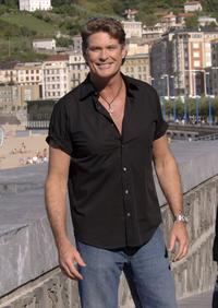 David Hasselhoff at a press conference of