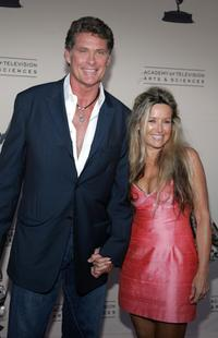 David Hasslehoff and Lilley Michele at the Stunts Peer Group Emmy Nominee Party.