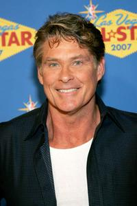 David Hasselhoff at the 2007 NBA All-Star Game.