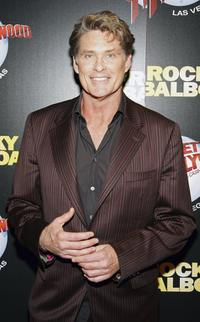 David Hasselhoff at a party following the premiere of