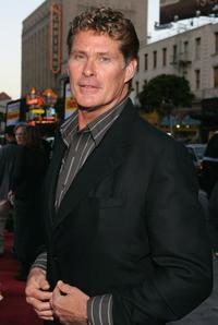 David Hasselhoff at the premiere of the