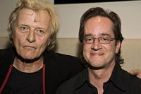 Rutger Hauer and Chris Murray at the premiere of